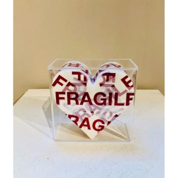 Bixio braghieri  cuore fragile  2020  tecnica mista  15 x 15 cm  euro 590