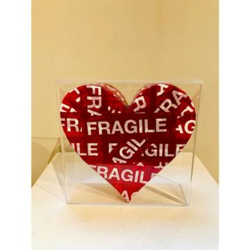 Bixio braghieri  cuore fragile  2020  tecnica mista  25 x 25 cm  euro 850