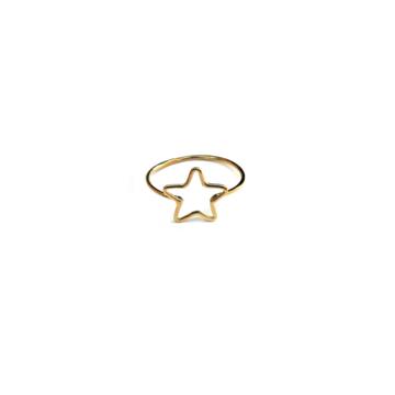 Anello filo stella oro %281%29