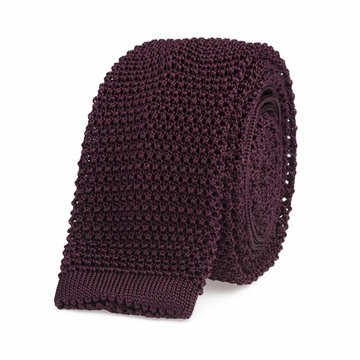Knitted tie bordeaux