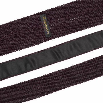 Knitted tie bordeaux 2