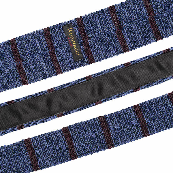 Knitted tie light blue   bordeaux 2