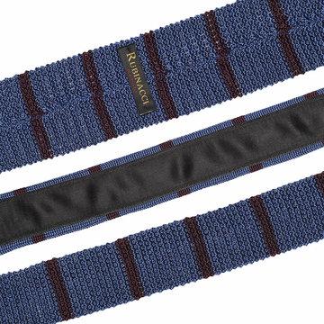 Knitted tie light blue   bordeaux 2