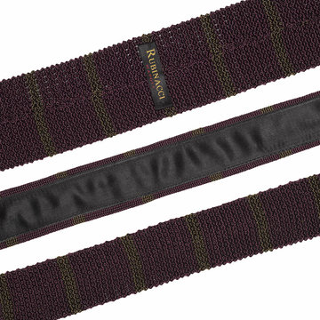 Knitted tie bordeaux   green 2