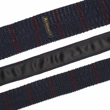 Knitted tie blue   bordeaux  2