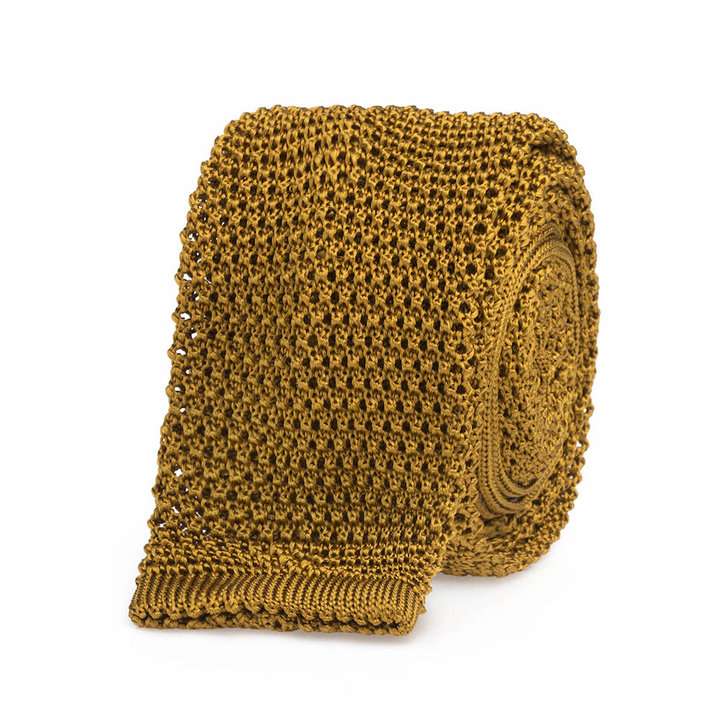 Knitted tie gold