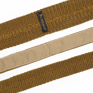 Knitted tie gold 2