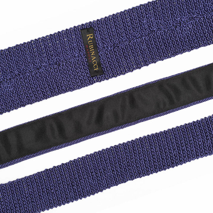 Knitted tie lilac 2