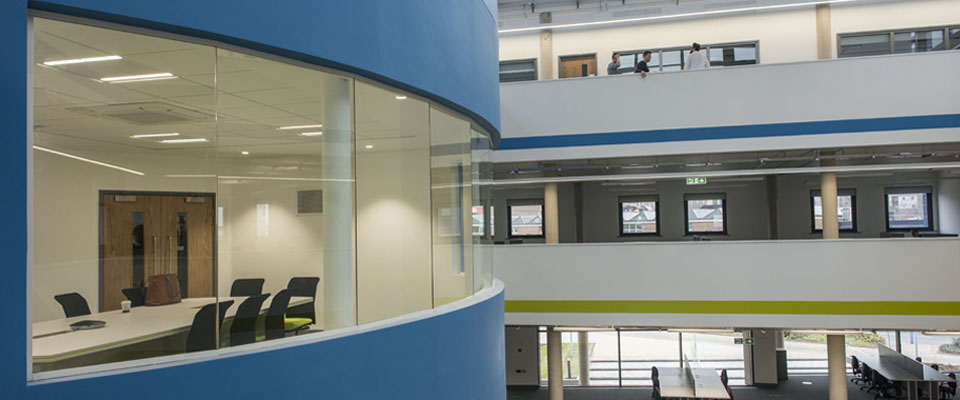 The new iCentrum centre from Innovation Birmingham is opened at Faraday Wharf.