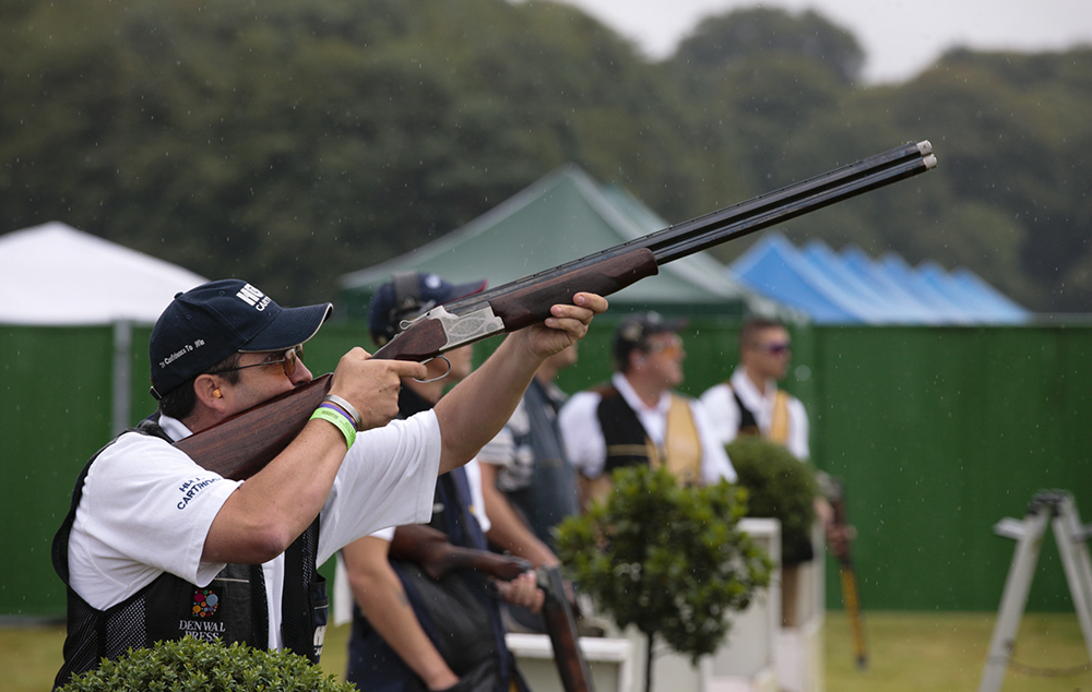 The Champion of Champions shooting competition in the John Bidwell shooting arena.