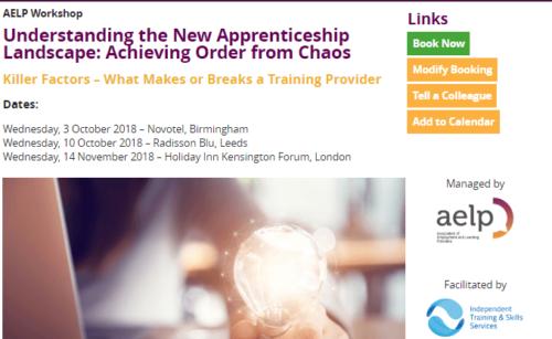 Apprenticeship Provider Training Workshops
