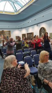Attendees dancing to Bhangra at the Inspiring Women into Business event