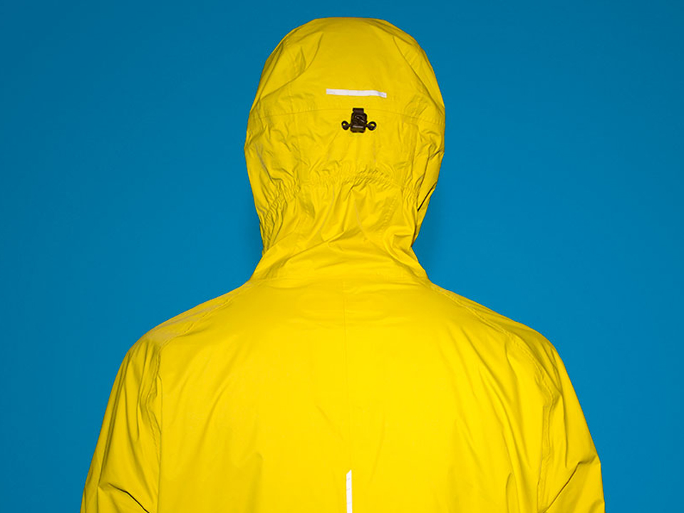 RAYNSIE | Dip Yellow Red | Reflective details | Waterproof onesie for urban cycling, outdoor, festival and camping