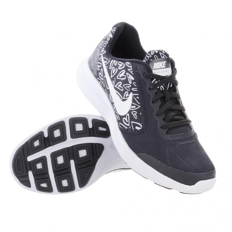 nike-revolution-3-print-gs-running-shoe-girls-black