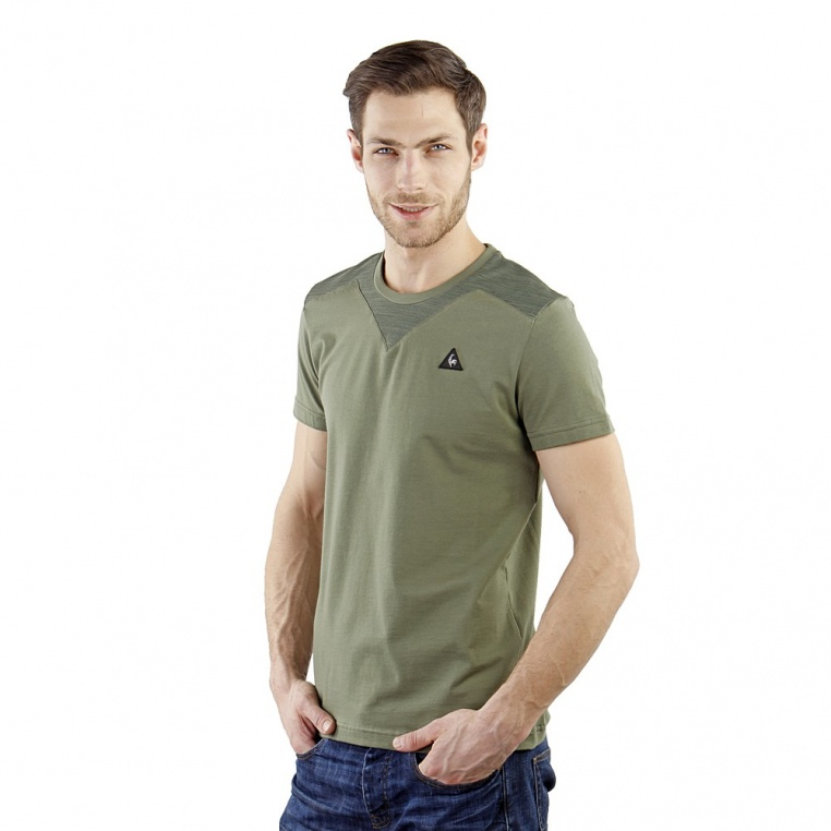 le-coq-sportif-sta-sp-coton-tech-tee-ss-m-four-green