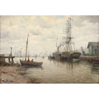 Ambarcațiuni în portul Le Havre