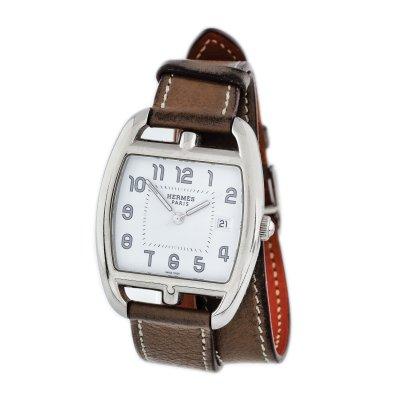 Ceas Hermès Cape Cod Tonneau, de mână, de damă, curea dublă