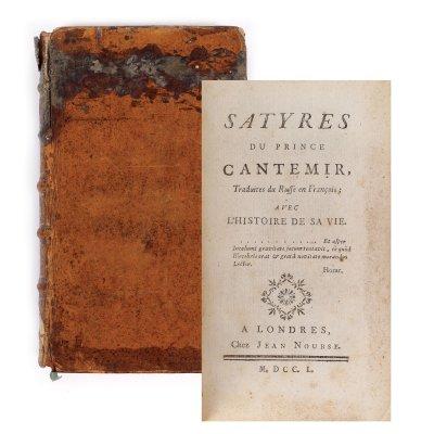 """Satyres de Monsieur le Prince Cantemir"", franceză, Londra, 1750"
