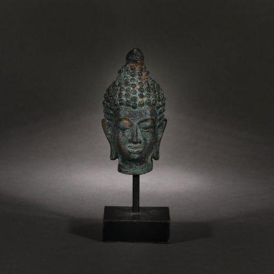 Fragment de statuetă, reprezentând un cap de Buddha, Thailanda, începutul sec. XX