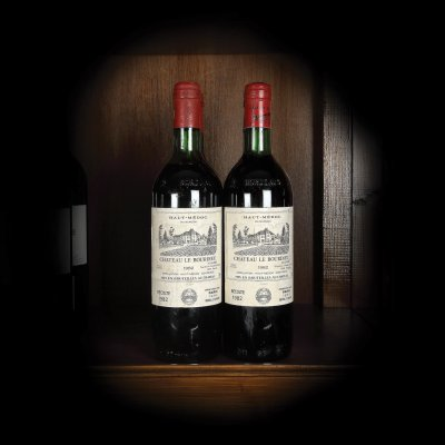 Lot format din 4 vinuri Château Le Bourdieu, Haut-Médoc, 1982, 4st x 0,75l