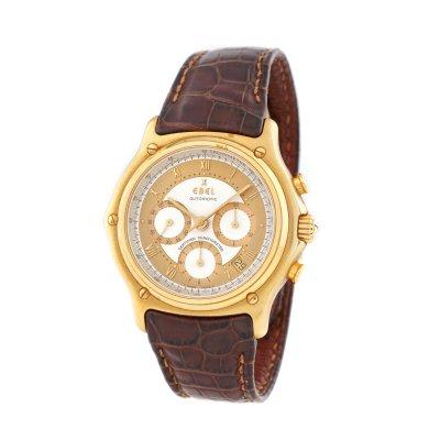 Ceas Ebel Le Modulor Chronograph, din aur, de mână, bărbătesc, în cutie originală