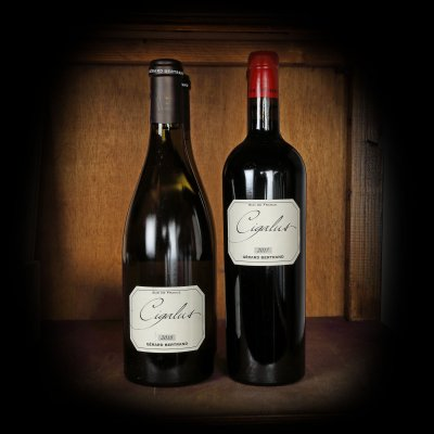 Lot de vinuri albe și rosii, Le Cigalus - Gérard Bertrand, Languedoc, 2017-2018, 4st x 0,75l