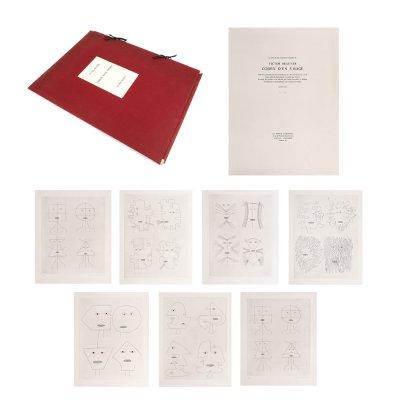 Codex d'un Visage, Le Point Cardinal, exemplarul 30/60, mapă cu 7 gravuri, semnate în creion