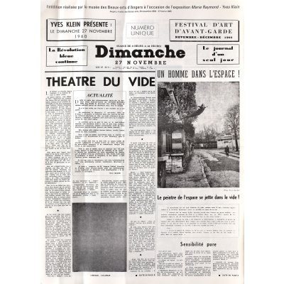 Le Dimanche 27 Novembre 1960: Le journal d'un seul jour