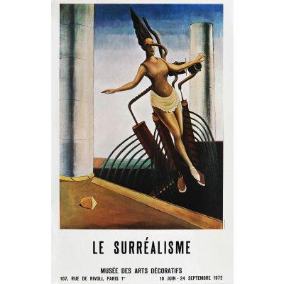 """Afișul expoziției """"Le Surréalisme"""" de la Muzeul de Artă Decorativă, Paris, 1972"""