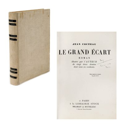 """""""Le grand ecart"""", de Jean Cocteau, franceză, Paris, 1923, cu 22 desene realizate de autor"""