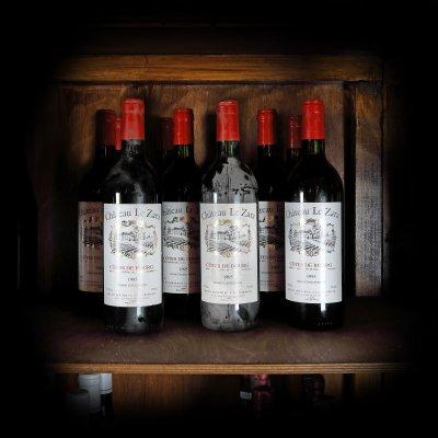 Lot de vinuri Château Le Zara, Côtes de Bourg, 1995, 10st x 0,75l