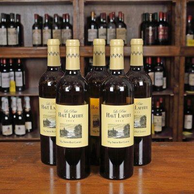 Lot de vin alb Le Petit Haut Lafitte, Pessac-Léognan, 2014, 5st x 0,75l