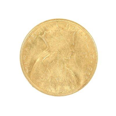 Moneda 25 lei 1922, aur