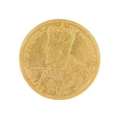 Moneda 50 lei 1922, aur