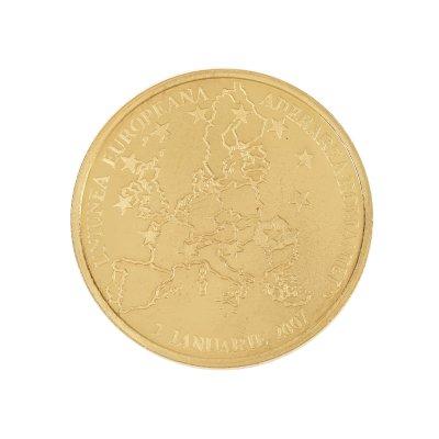 Monedă comemorativă BNR, Aderarea la Uniunea Europeană, 2007, aur