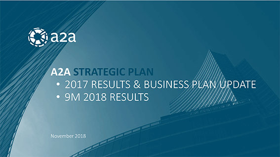 A2A - Company Presentation - Novembre 2018