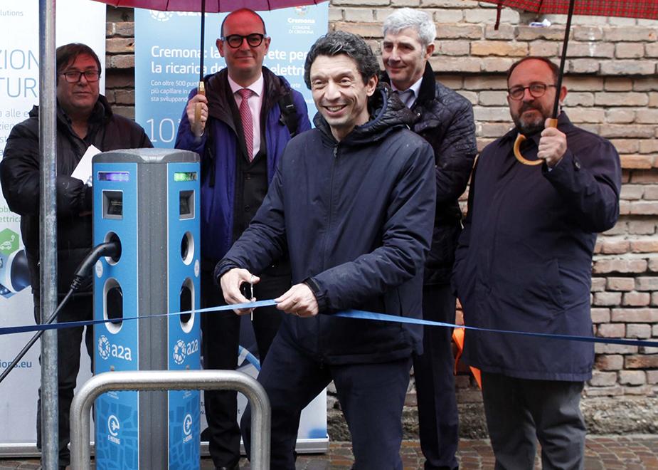 Cremona Green: inaugurata la nuova rete di ricarica A2A per la mobilità elettrica 100% rinnovabile