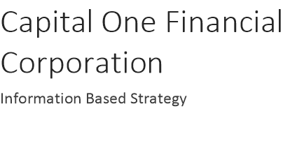 information based strategy capital one