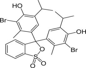 This is the chemical structure of bromothymol blue.