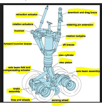 FTA of Main Landing Gear Systems