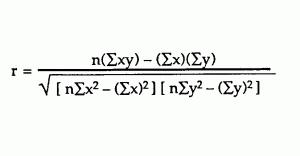 pearsons correlation coefficient