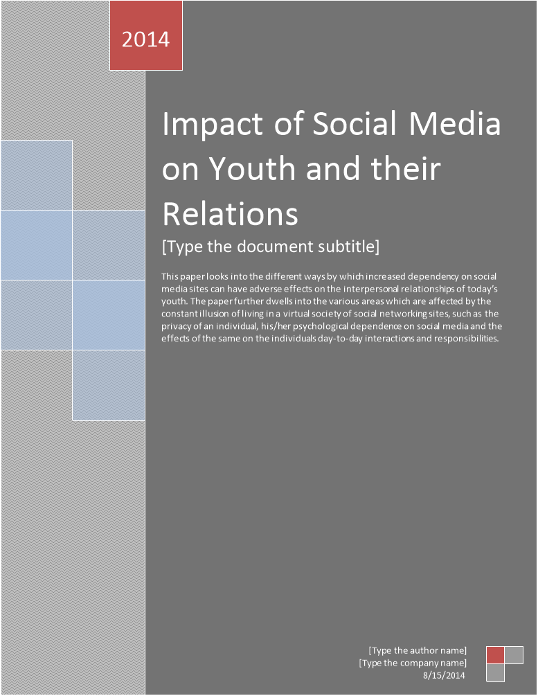 impact of social media on youth and their relations
