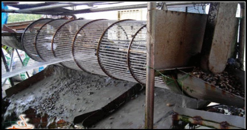 Rotation machine for mud clearing and sample sorting