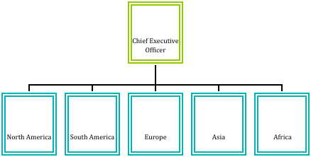 Chief executive officer overseeing North America, South America, Europe, Asia, and Africa.