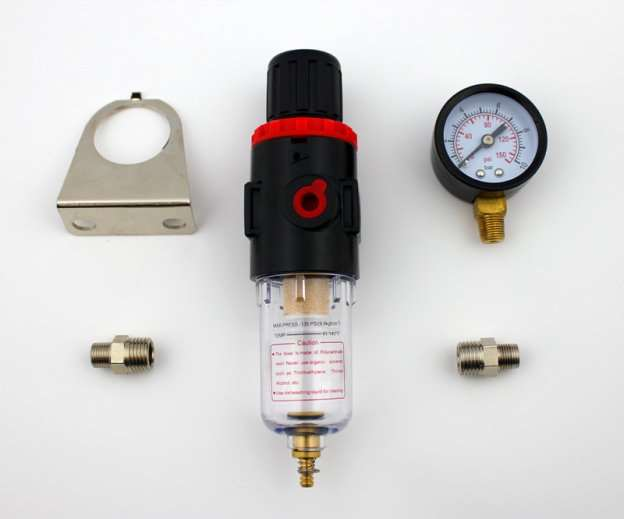 Airbrush Compressor Pressure Regulator Water Trap Filter Water Moisture Gauge AFR-2000(China (Mainland))