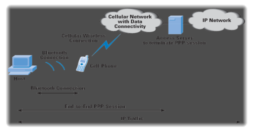 Figure 2: Typical Representation of a Bluetooth enabled phindividual as a basis modem coercion a PC