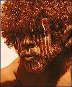[ image: The skulls suggest faces like those of Australian aborigines]