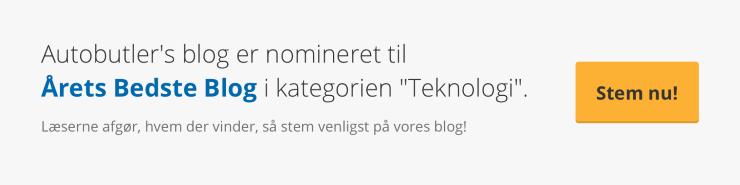 Autobutler.dk blog - nomineret til Årets Bedste Blog