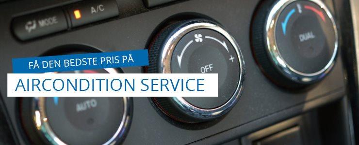 Få den bedste pris på aircondition service og A/C rens