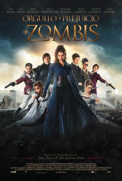 Poster Orgullo + Prejuicio + Zombis